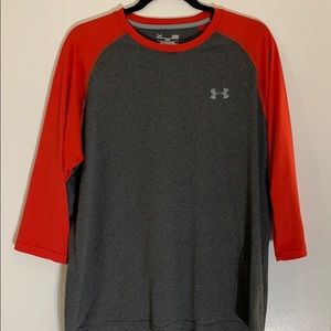 UNDER ARMOUR t-shirt 3/4 sleeve size L loose